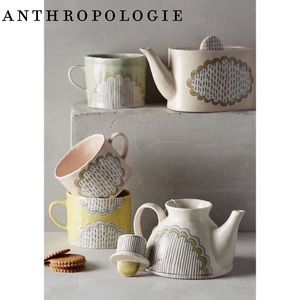 Anthropologie Running Stitch Mug